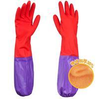 馨艺雪 FU520手套 橡胶家用手套(绒里加袖型) 1付装
